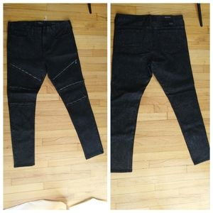 Men's black PacSun zipper skinny jeans